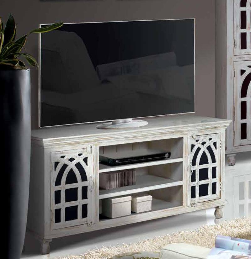 Mesa tv madera de mango ref 6401 mueble home - Decoracion mueble tv ...